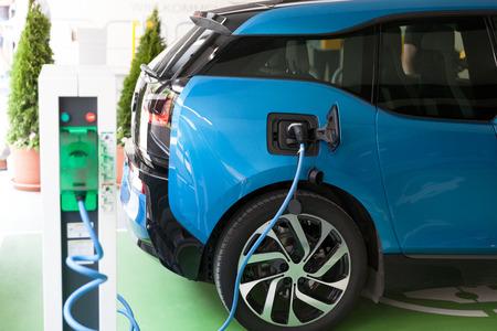 Electric vehicle - EV charging station 写真素材