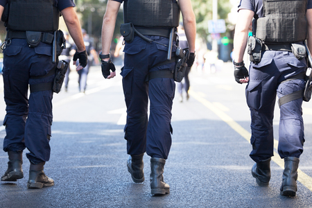 Armed police patrol 写真素材