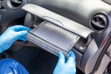 Replacing cabin pollen air filter for a car
