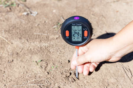 Soil temperature in the Celsius scale, moisture content, environmental humidity and illumination measurement