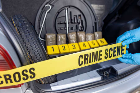 Police seize drug in the trunk of a car during traffic stop