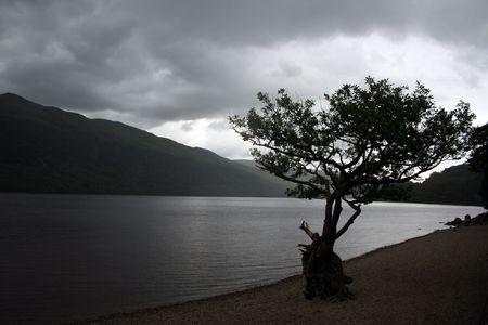 loch lomond: Loch Lomond silhouette
