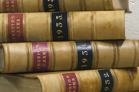 solicitor: Old law reports from the 1930s.