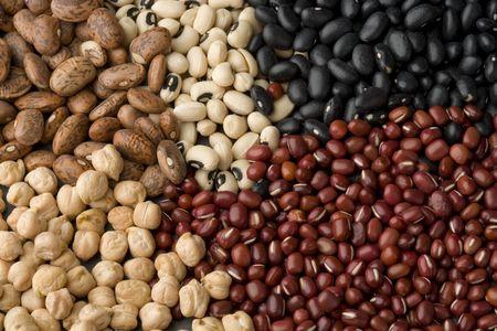 aduki bean: Black beans, pinto beans, black-eyed beans, aduki beans and chick peas.