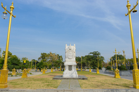 Wat Sothon Wararam Worawihan Royal Monastery at Chachoengsao province in Thailand. Banco de Imagens