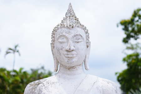 chaimongkol: Head Buddha Statue at Wat Yai Chaimongkol, Ayutthaya, Thailand Stock Photo