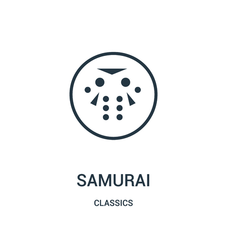 samurai icon isolated on white background from classics collection.