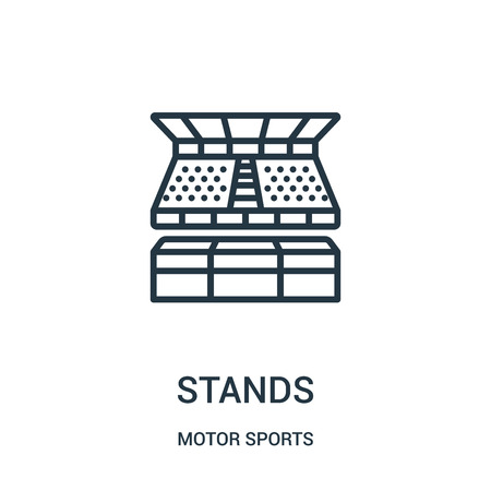 stands icon isolated on white background from motor sports collection. 일러스트