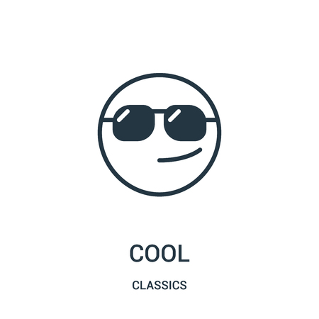 cool icon isolated on white background from classics collection.