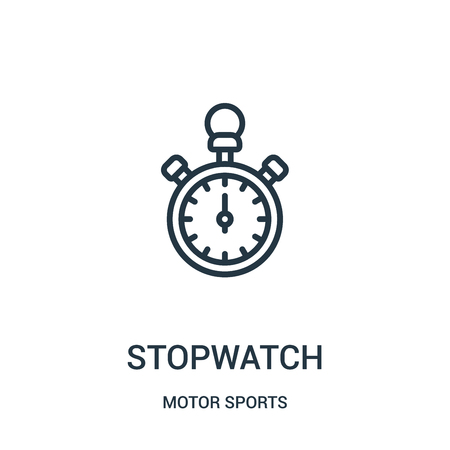 stopwatch icon isolated on white background from motor sports collection.