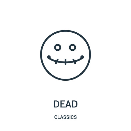 dead icon isolated on white background from classics collection. Illustration