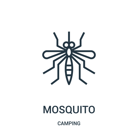 mosquito icon isolated on white background from camping collection. Stock Illustratie