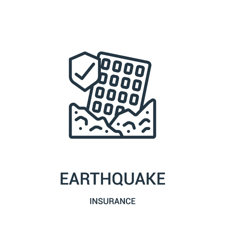 earthquake icon isolated on white background from insurance collection.