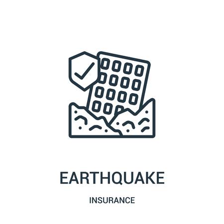 icona di terremoto isolato su priorità bassa bianca dalla raccolta assicurativa.