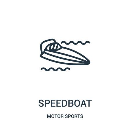 icona di motoscafo isolato su priorità bassa bianca dalla collezione di sport motoristici.