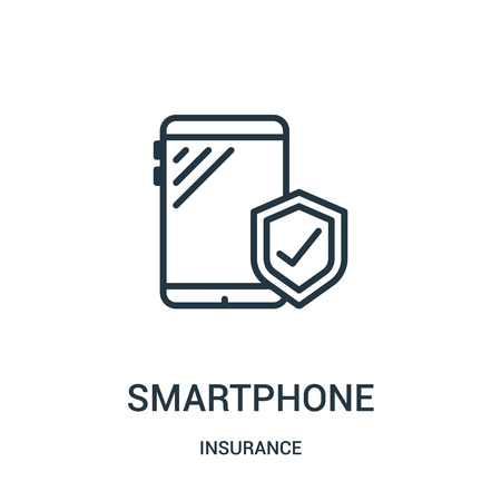 smartphone icon isolated on white background from insurance collection. Çizim