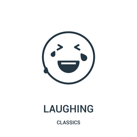 laughing icon isolated on white background from classics collection.