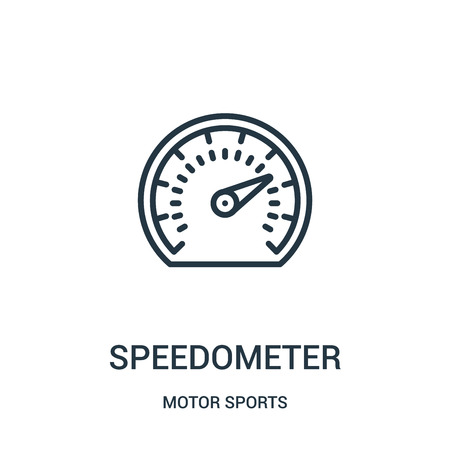 speedometer icon isolated on white background from motor sports collection. Çizim