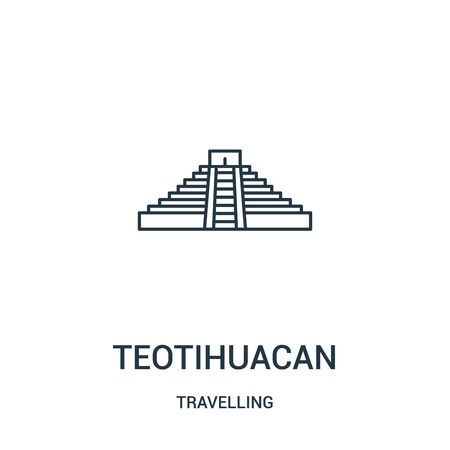 teotihuacan icon isolated on white background from travelling collection.