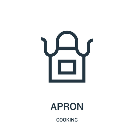apron icon isolated on white background from cooking collection.