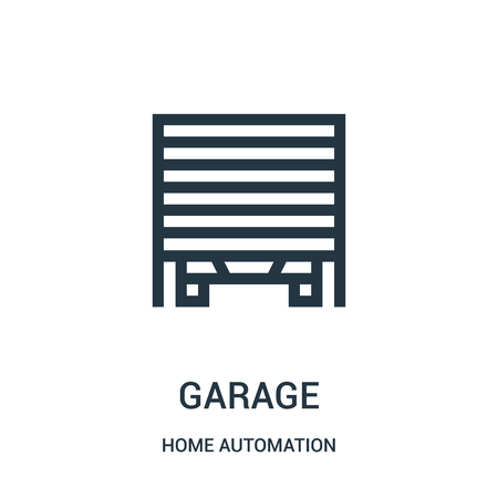 garage icon isolated on white background from home automation collection.