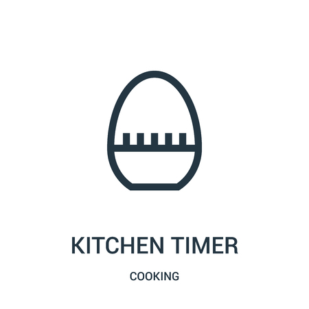 kitchen timer icon isolated on white background from cooking collection.