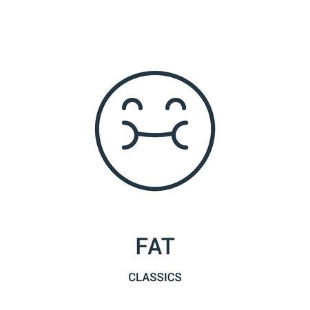 fat icon isolated on white background from classics collection.