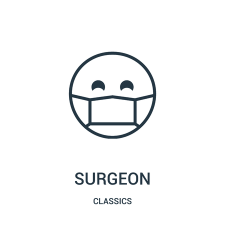 surgeon icon isolated on white background from classics collection. Vector Illustratie