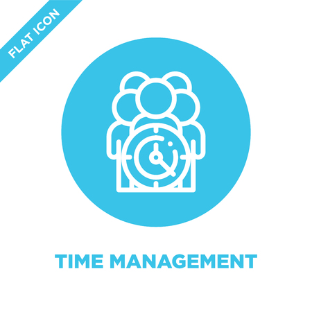 time management icon vector. Thin line time management outline icon vector illustration.time management symbol for use on web and mobile apps,  print media. Illustration