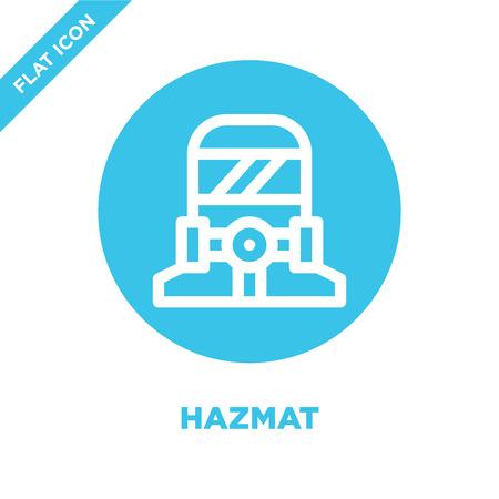 hazmat icon vector. Thin line hazmat outline icon vector illustration.hazmat symbol for use on web and mobile apps, print media. Illustration