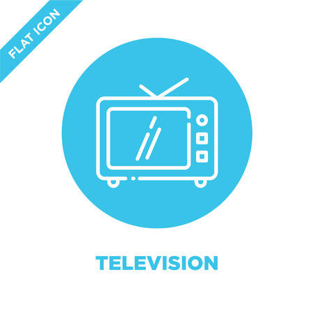 television icon vector. Thin line television outline icon vector illustration.television symbol for use on web and mobile apps, print media. Stock Illustratie