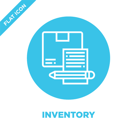 inventory icon vector. Thin line inventory outline icon vector illustration.inventory symbol for use on web and mobile apps, print media. Illustration