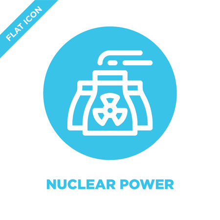 nuclear power icon vector. Thin line nuclear power outline icon vector illustration.nuclear power symbol for use on web and mobile apps, print media.