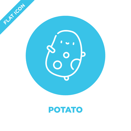 potato icon vector. Thin line potato outline icon vector illustration.potato symbol for use on web and mobile apps, print media.