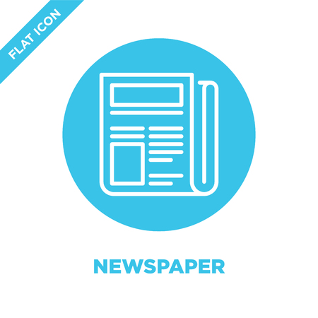 newspaper icon vector. Thin line newspaper outline icon vector illustration.newspaper symbol for use on web and mobile apps, print media.
