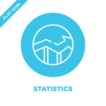 statistics icon vector. Thin line statistics outline icon vector illustration.statistics symbol for use on web and mobile apps, print media.