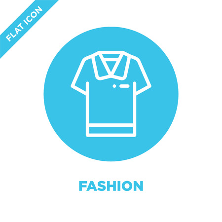 fashion icon vector. Thin line fashion outline icon vector illustration.fashion symbol for use on web and mobile apps,  print media. Vettoriali