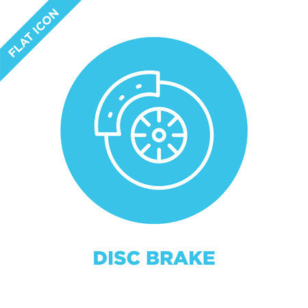 disc brake icon vector. Thin line disc brake outline icon vector illustration.disc brake symbol for use on web and mobile apps, print media.