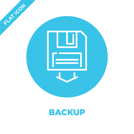 backup icon vector. Thin line backup outline icon vector illustration.backup symbol for use on web and mobile apps,  print media. Illustration
