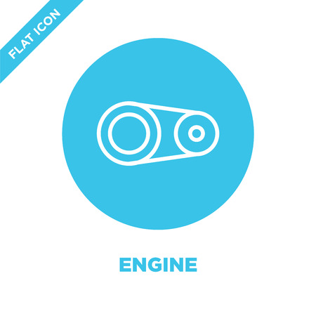 engine icon vector. Thin line engine outline icon vector illustration.engine symbol for use on web and mobile apps, print media.