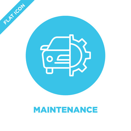 maintenance icon vector. Thin line maintenance outline icon vector illustration.maintenance symbol for use on web and mobile apps, print media.