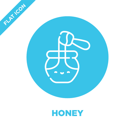 honey icon vector. Thin line honey outline icon vector illustration.