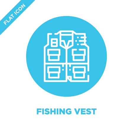 fishing vest icon vector from camping collection. Thin line fishing vest outline icon vector  illustration. Linear symbol for use on web and mobile apps, logo, print media.