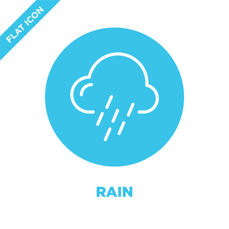 rain icon vector from weather collection. Thin line rain outline icon vector  illustration. Linear symbol for use on web and mobile apps, logo, print media.