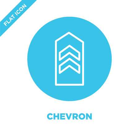 chevron icon vector from military collection. Thin line chevron outline icon vector  illustration. Linear symbol for use on web and mobile apps, logo, print media. Reklamní fotografie - 123240072