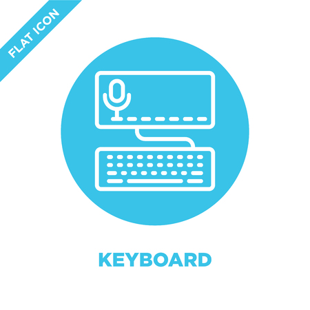 keyboard icon vector from accessibility collection. Thin line keyboard outline icon vector  illustration. Linear symbol for use on web and mobile apps, logo, print media.
