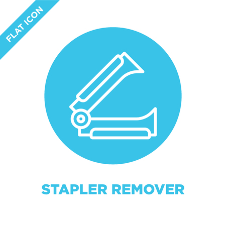 stapler remover icon vector from stationery collection. Thin line stapler remover outline icon vector illustration. Linear symbol for use on web and mobile apps, logo, print media. Logó