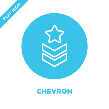 chevron icon vector from military collection. Thin line chevron outline icon vector  illustration. Linear symbol for use on web and mobile apps, logo, print media. Reklamní fotografie - 123240307