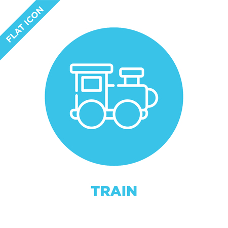train icon vector from baby toys collection. Thin line train outline icon vector  illustration. Linear symbol for use on web and mobile apps, logo, print media. Illusztráció