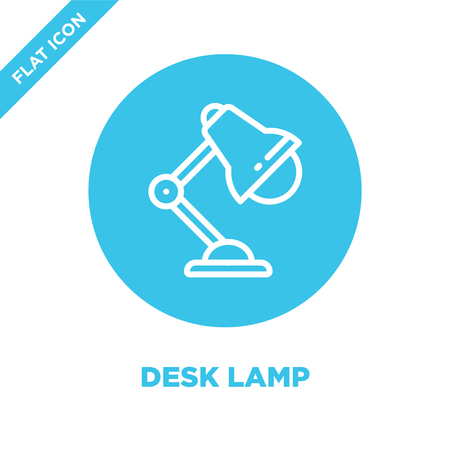 desk lamp icon vector from stationery collection. Thin line desk lamp outline icon vector  illustration. Linear symbol for use on web and mobile apps, logo, print media. Ilustração